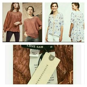 2 Nwt Anthropologie Love Sam One September Sz Xs